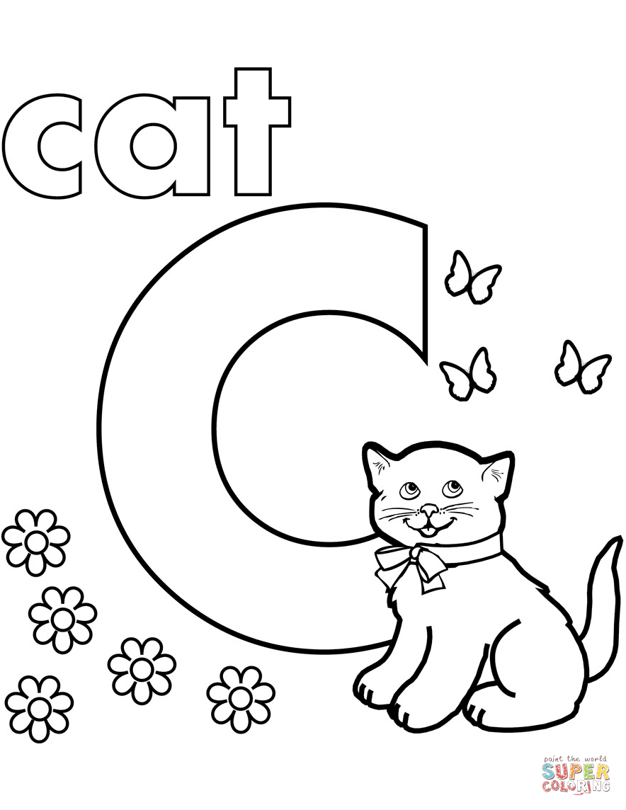coloring letter c pictures free letter c printable coloring pages for preschool c pictures coloring letter