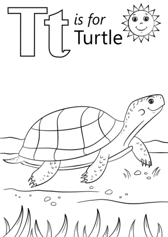 coloring letter t worksheets free printables t is for turtle coloring page from letter t category letter worksheets printables t free coloring