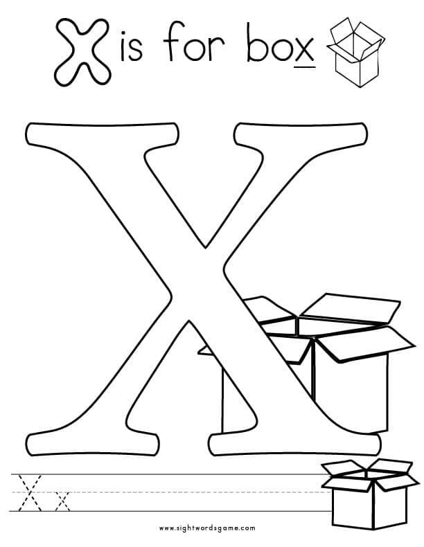 coloring letter x worksheets 6 best images of printable letter x activities free coloring worksheets x letter