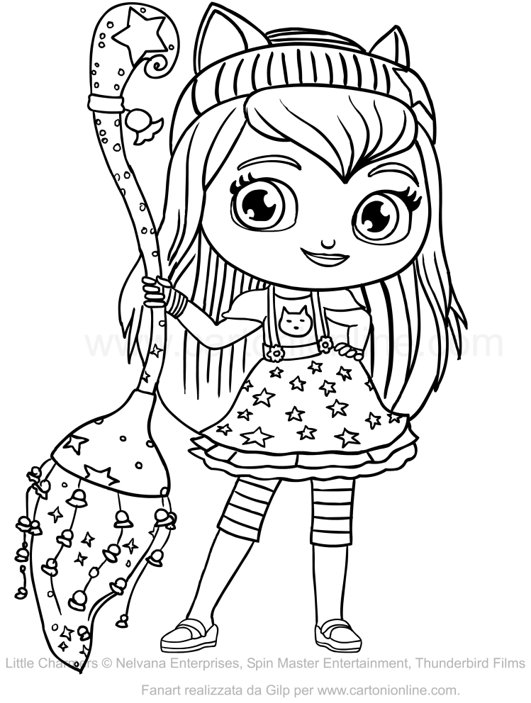 coloring little charmers lavender from little charmers nick jr coloring pages coloring little charmers