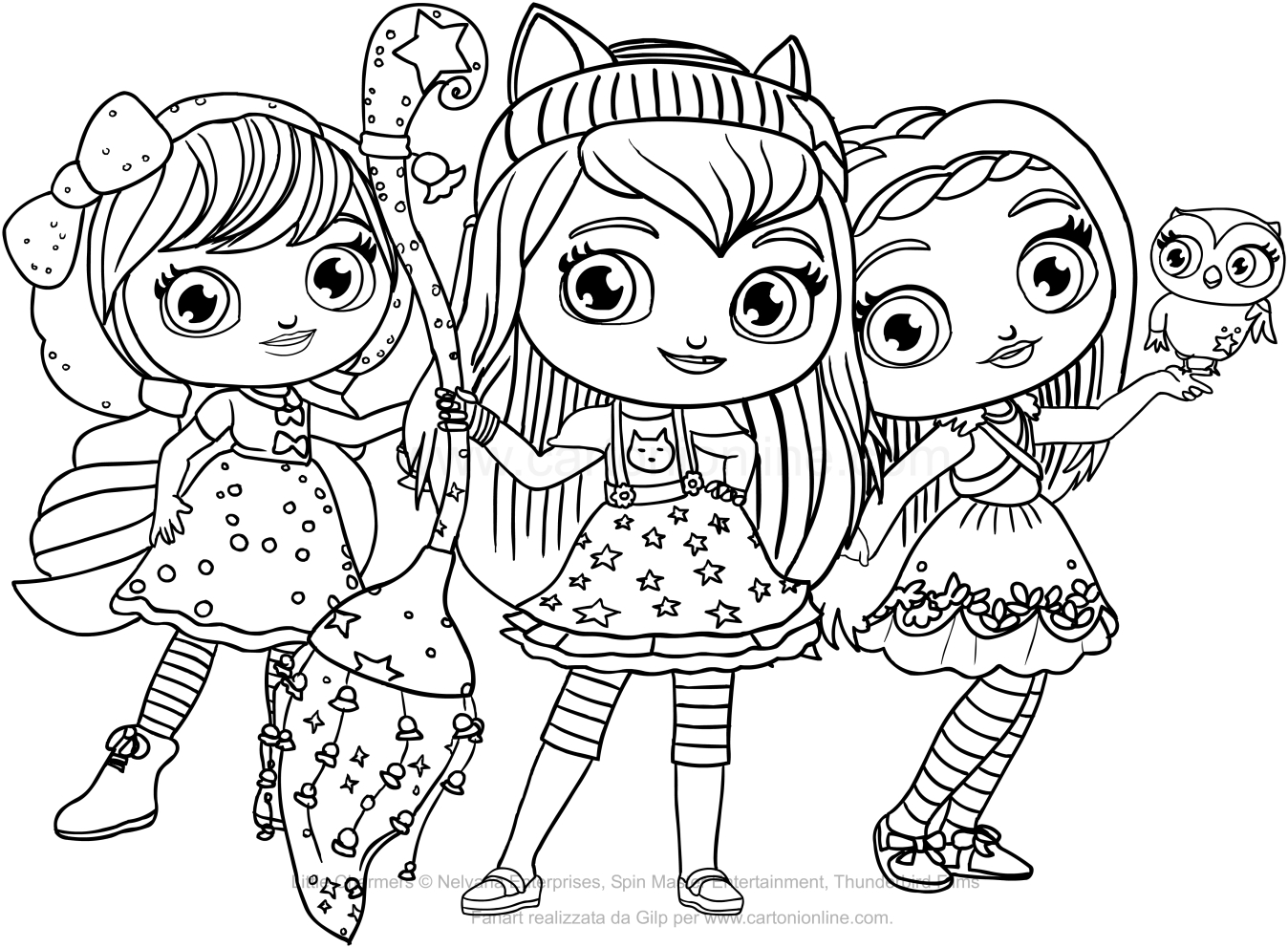coloring little charmers little charmers coloring pages at getcoloringscom free charmers little coloring