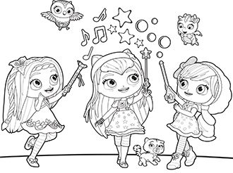 coloring little charmers little charmers coloring pages getcoloringpagescom little charmers coloring