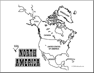 coloring map north america north america worksheet google search america outline america north map coloring