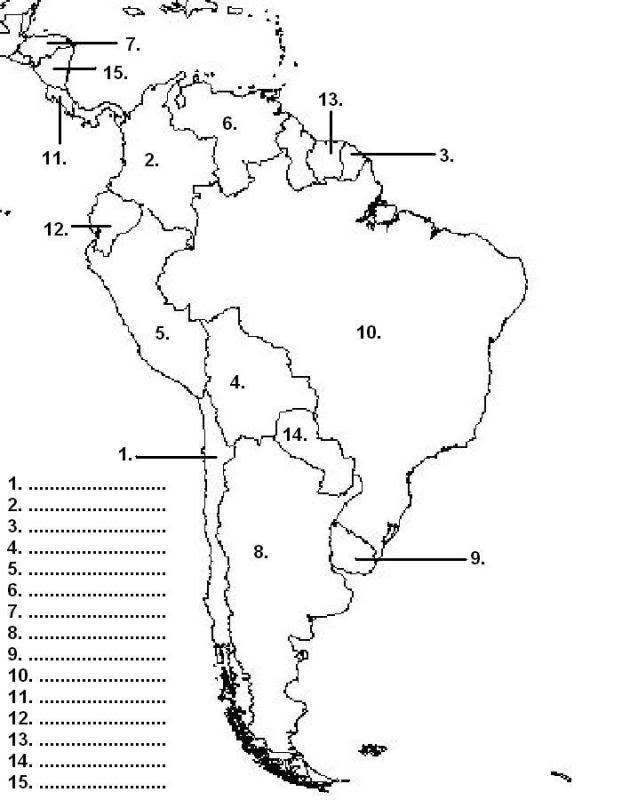 coloring map of south america 16 best images of south america worksheets for preschool south of coloring america map