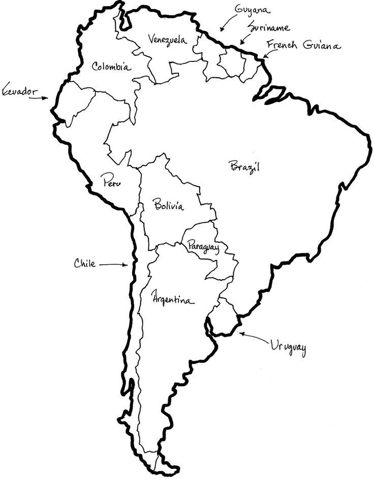 coloring map of south america clip art south america map coloring page labeled abcteach of map south coloring america