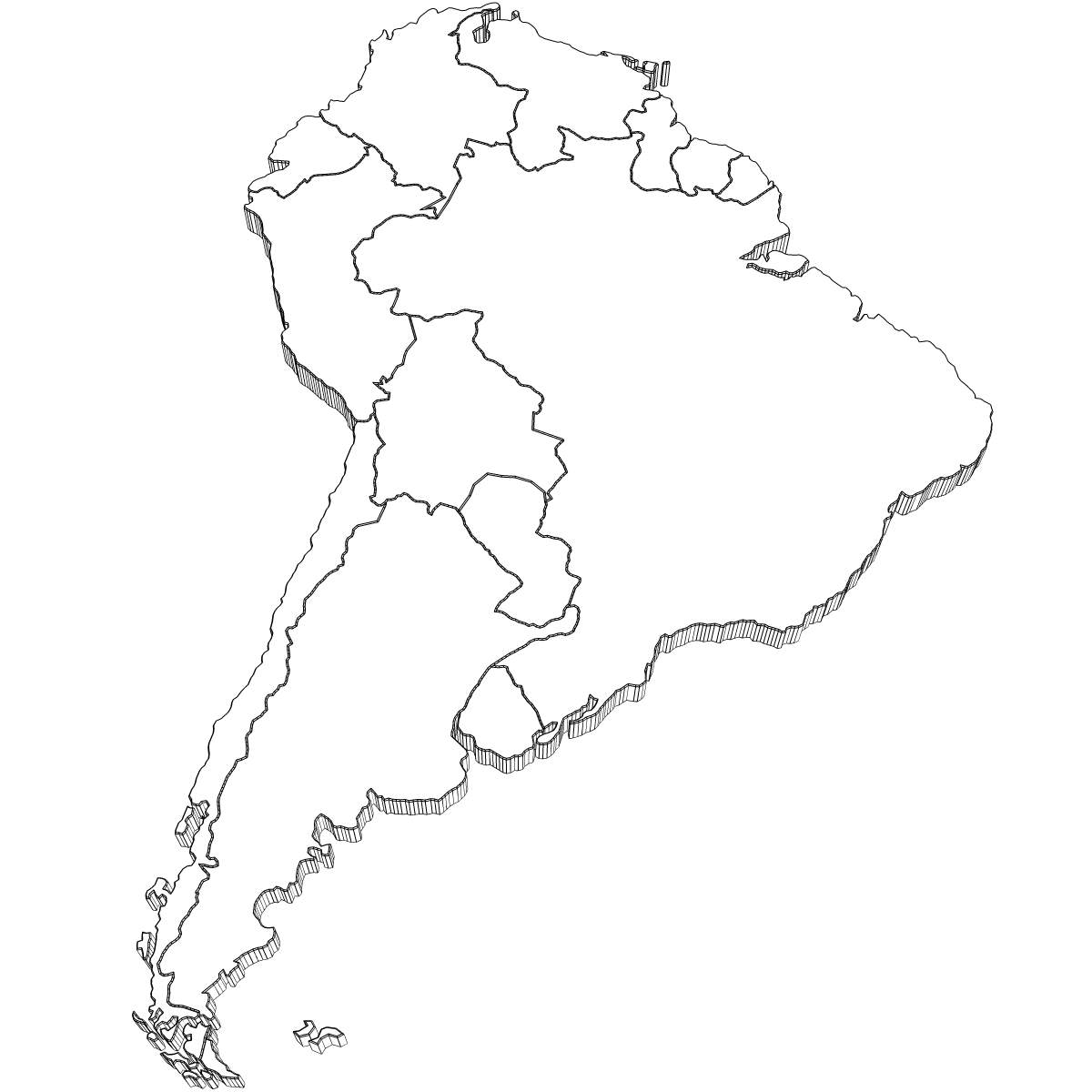 coloring map of south america coloring page south america free printable coloring pages south map of america coloring