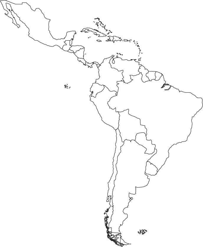 coloring map of south america printable map central south america world map gt north south of america coloring map