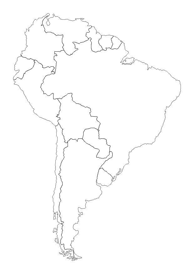 coloring map of south america south america coloring map of countries maybe use for jr coloring of south map america