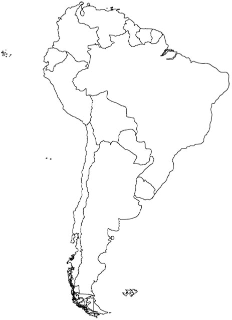 coloring map of south america south america coloring pages kidsuki coloring map of south america