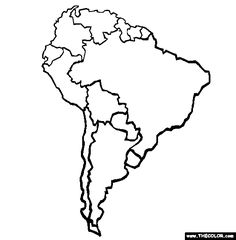 coloring map of south america south america drawing at getdrawings free download of coloring south map america