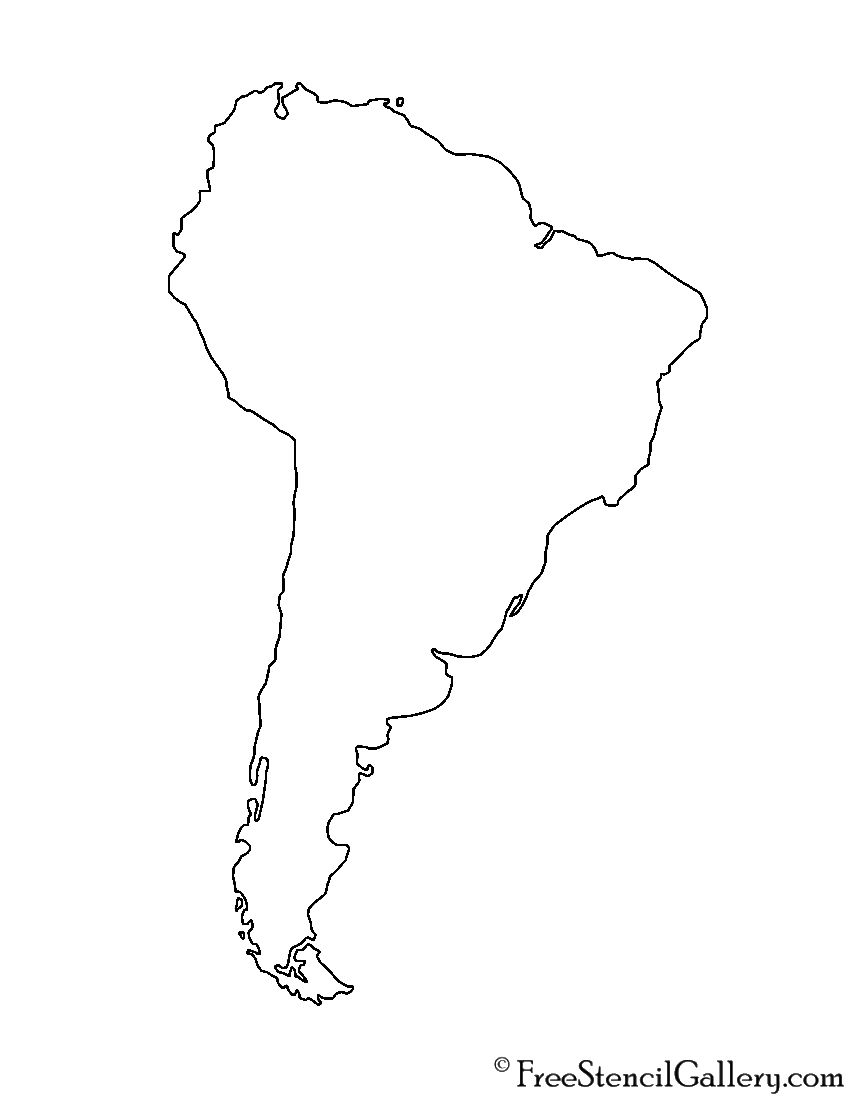 coloring map of south america south america stencil free stencil gallery map america coloring of south