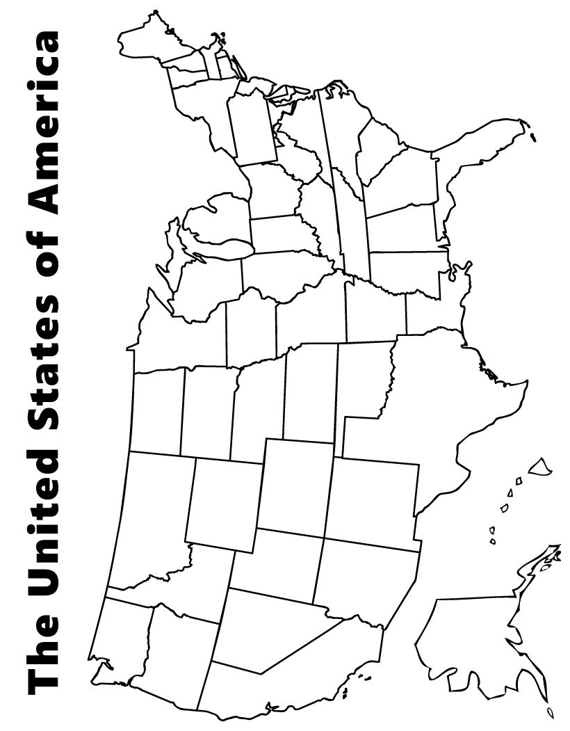 coloring map of usa with states us map coloring pages best coloring pages for kids usa with map of coloring states