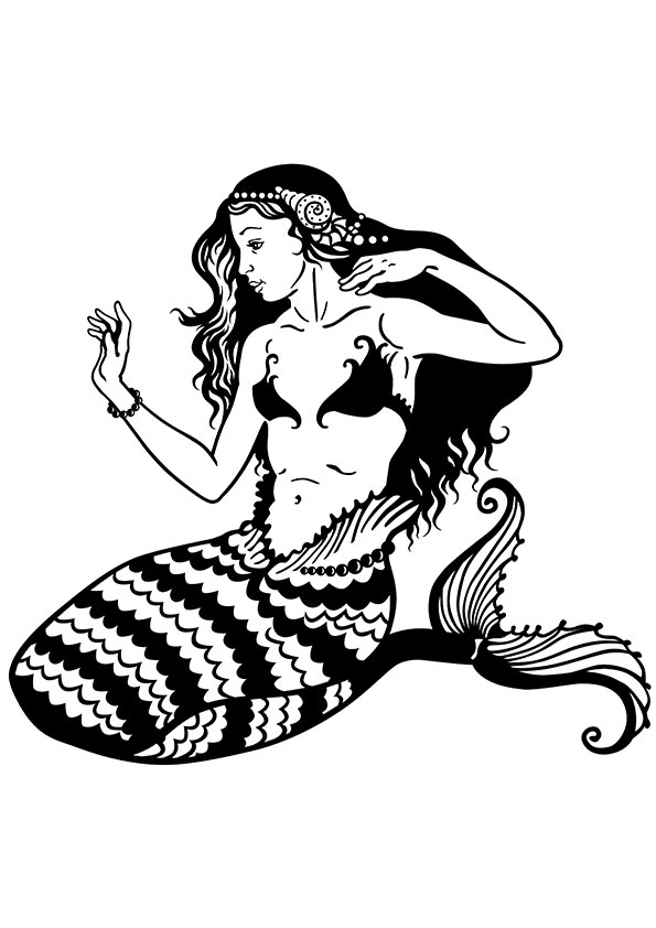 coloring mermaid pages print download find the suitable little mermaid coloring pages mermaid