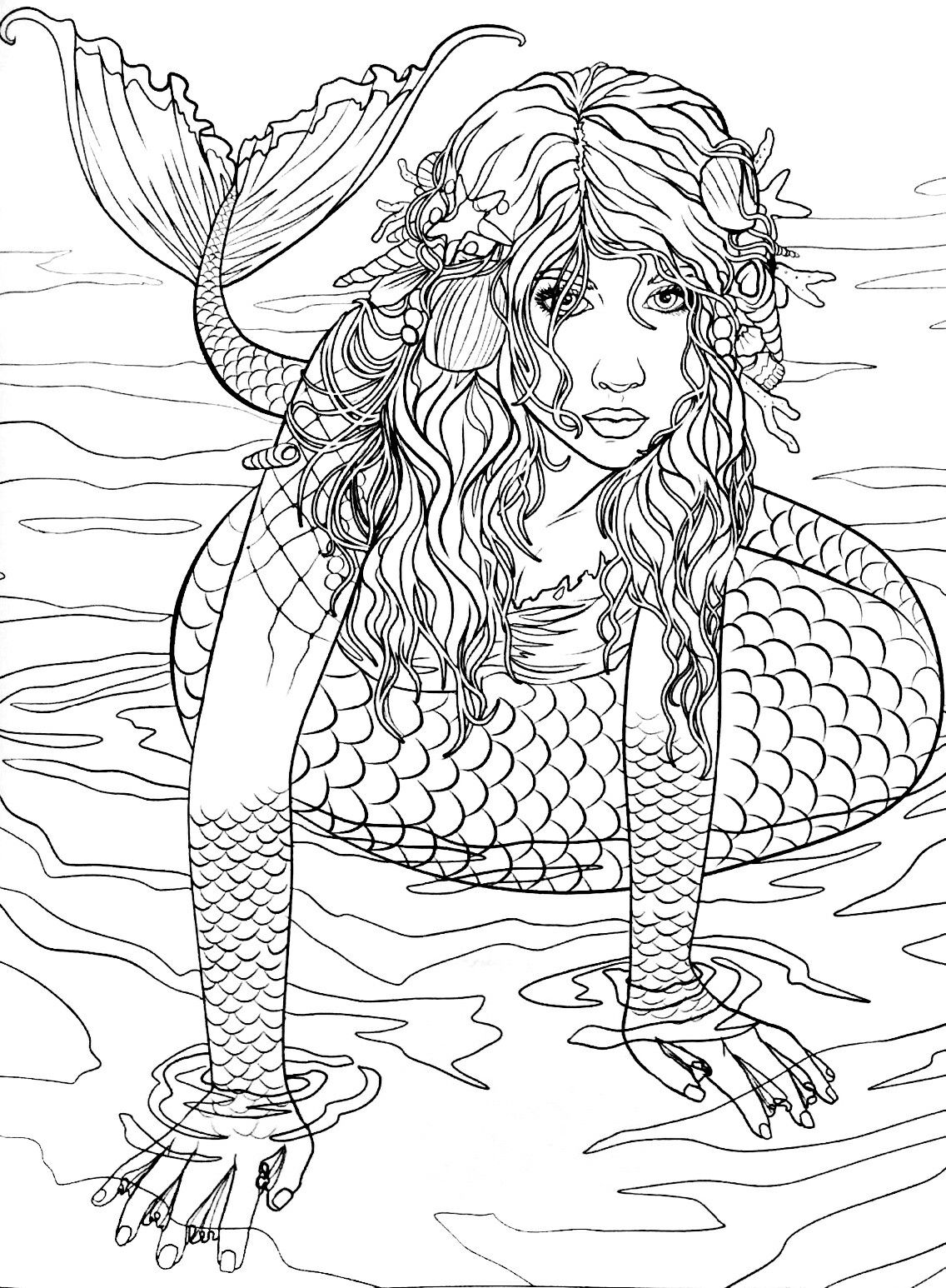 coloring mermaid pages print download find the suitable little mermaid coloring pages mermaid 1 1