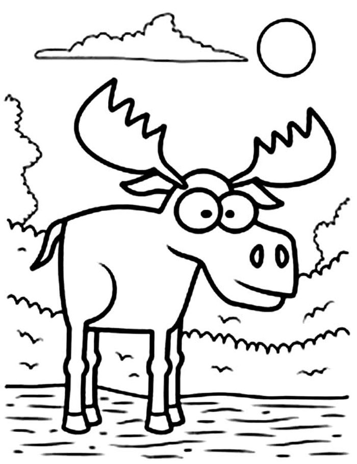 coloring moose collection of moose coloring pages for kids coloring moose