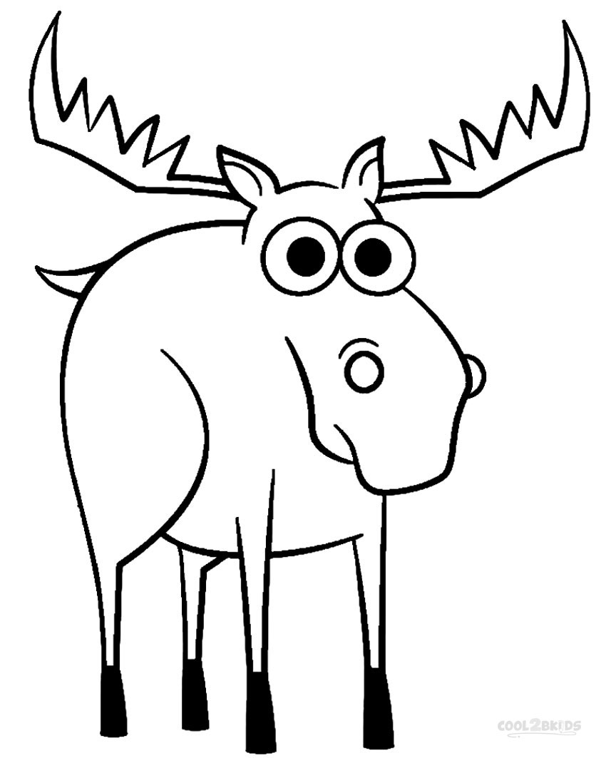 coloring moose printable moose coloring pages for kids cool2bkids coloring moose 1 1