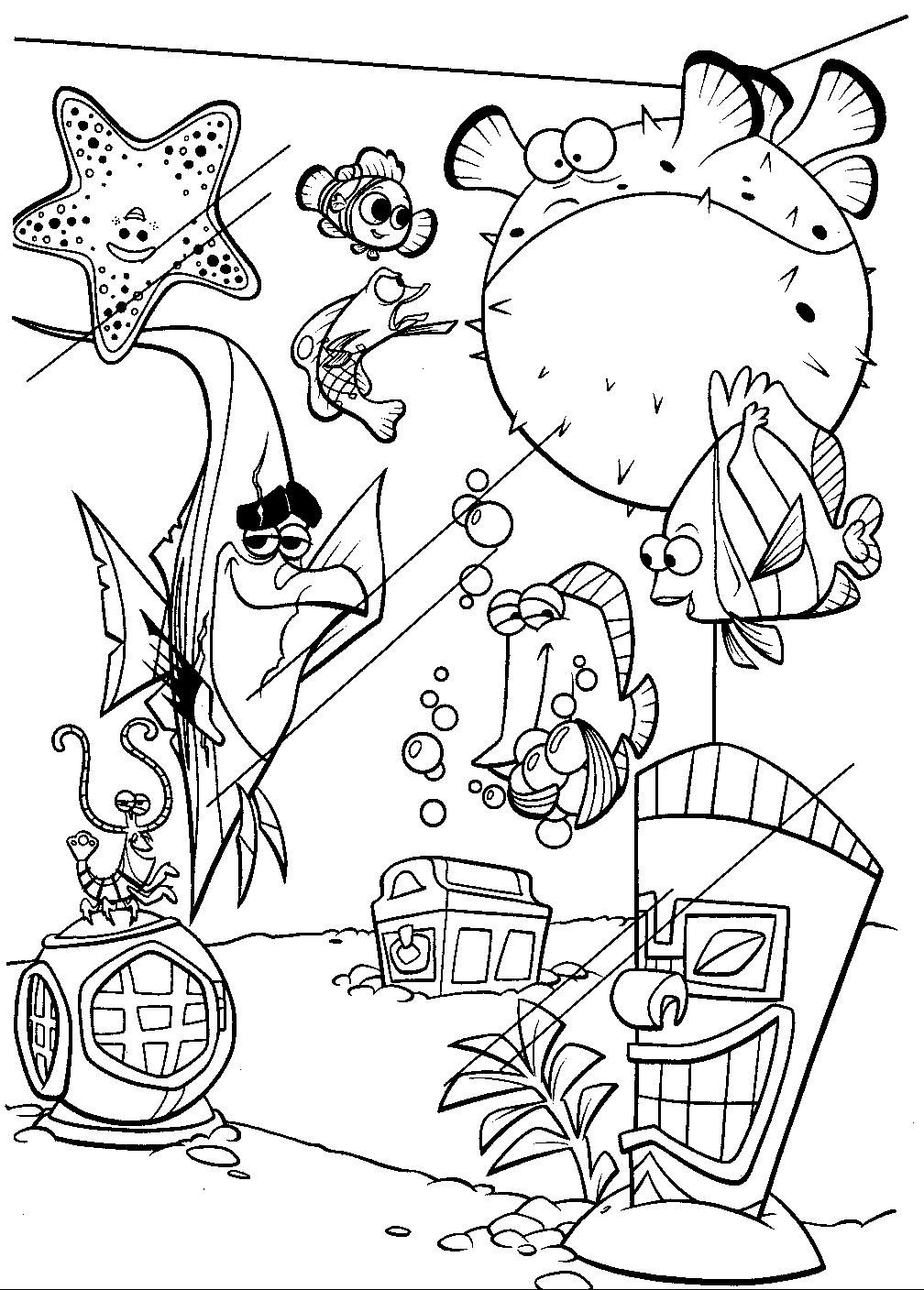 coloring nemo characters finding nemo coloring pages printable sanat galeri nemo characters coloring
