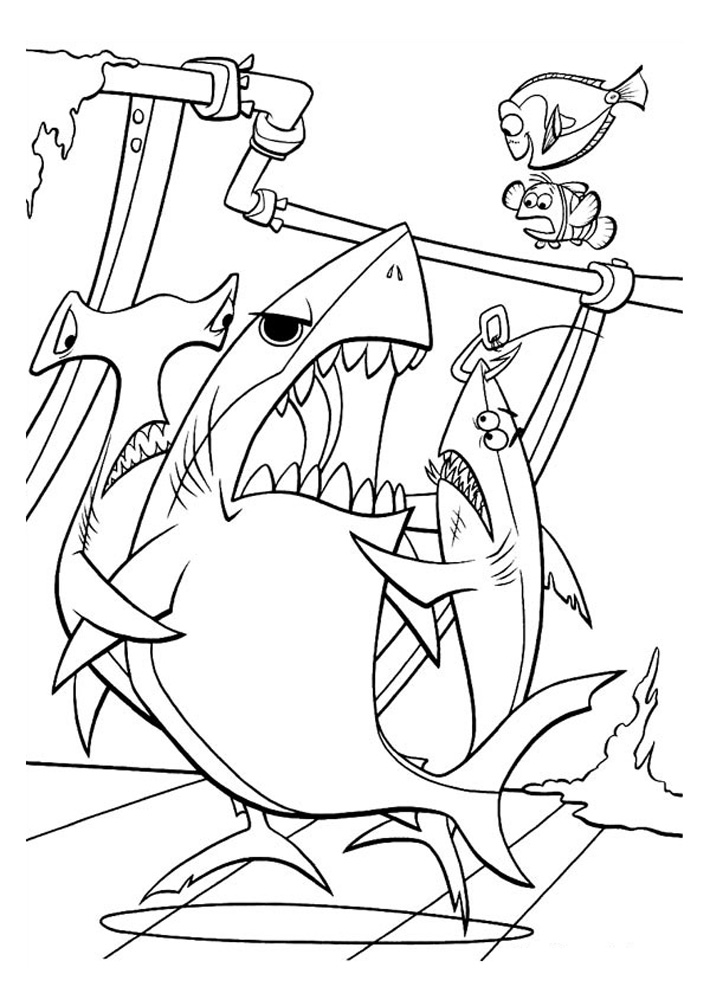 coloring nemo characters finding nemo free to color for children finding nemo nemo coloring characters