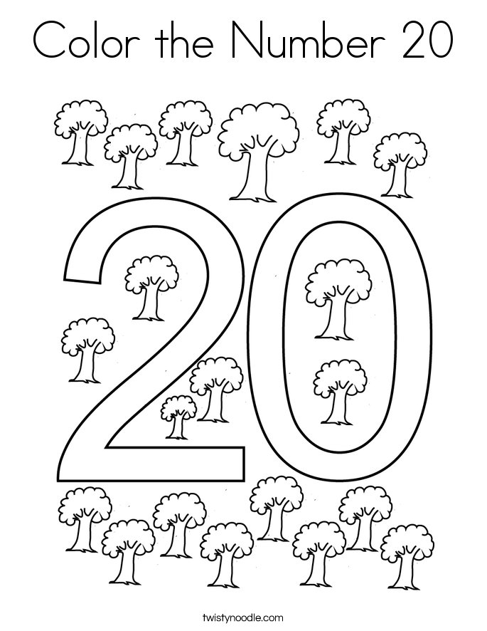 coloring number 20 number 20 coloring page getcoloringpagescom number 20 coloring