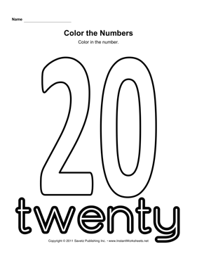 coloring number 20 number 20 free printable coloring pages 20 number coloring