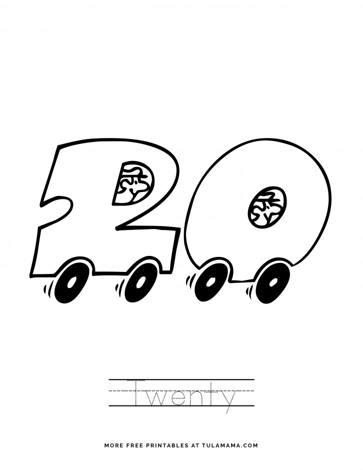 coloring number 20 numbers coloring book for kids number 20 in 2020 coloring number 20