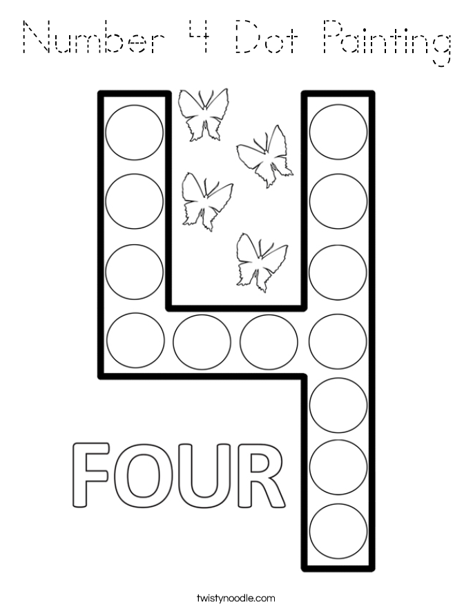 coloring number 4 preschool number 4 coloring page crayolacom coloring number 4 preschool