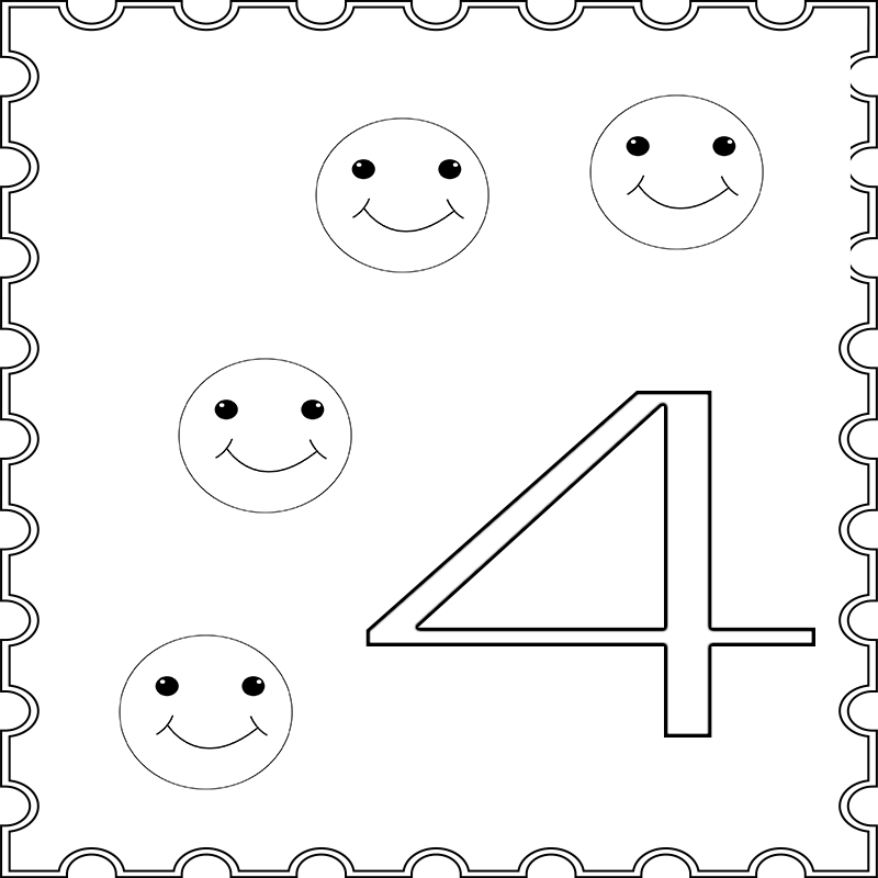 coloring number 4 preschool number 4 coloring page getcoloringpagescom 4 preschool coloring number
