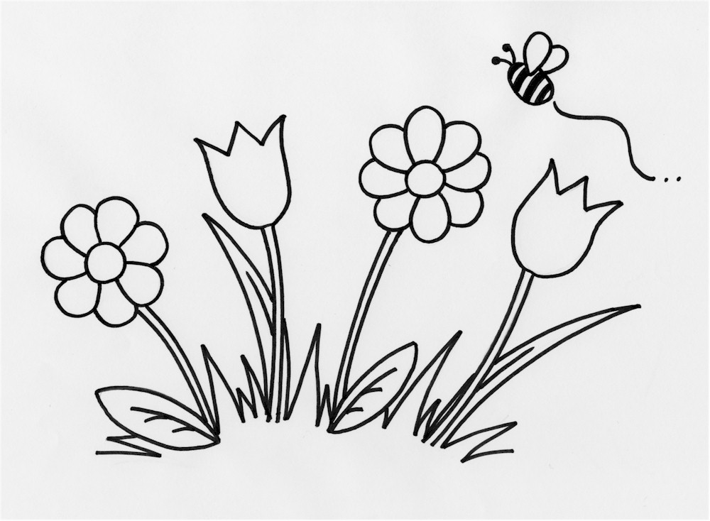 coloring outlines for kids free flower outline for kids download free clip art free outlines kids coloring for