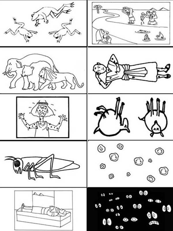 coloring page 10 plagues for kids the 10 plagues of egypt coloring pages plagues page coloring for 10 kids