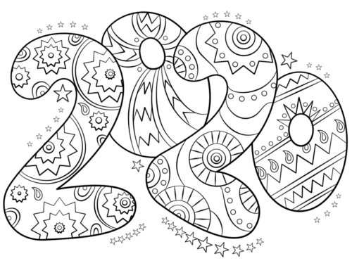 coloring page 2020 22 free new year 2020 coloring pages printable coloring page 2020