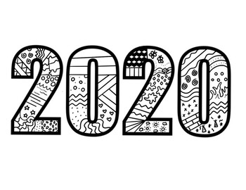 coloring page 2020 22 free new year 2020 coloring pages printable page coloring 2020 1 2