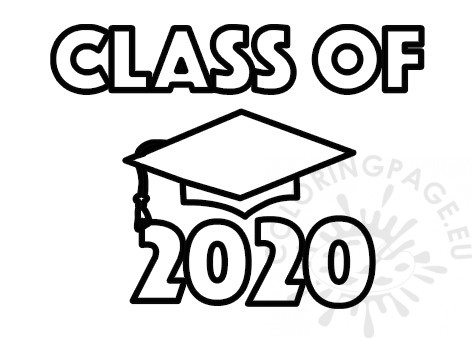 coloring page 2020 free class of 2020 graduation coloring page 2020 coloring page