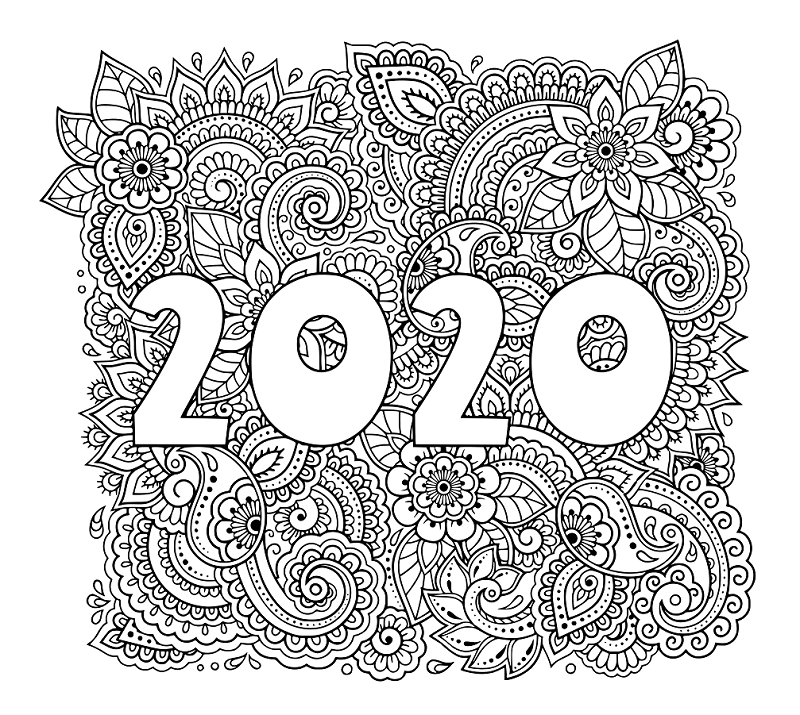 coloring page 2020 happy new year 2020 coloring pages coloring home coloring page 2020