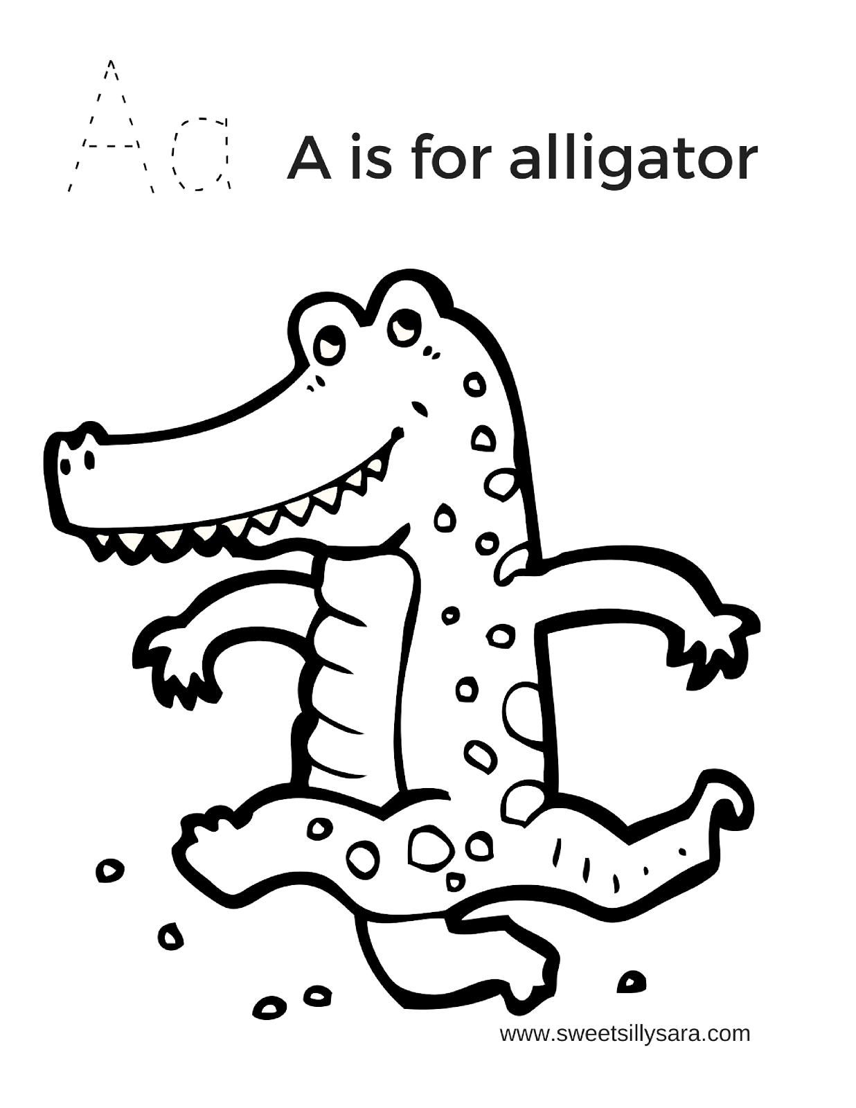 coloring page alligator sweet silly sara a is for alligator coloring page alligator coloring page