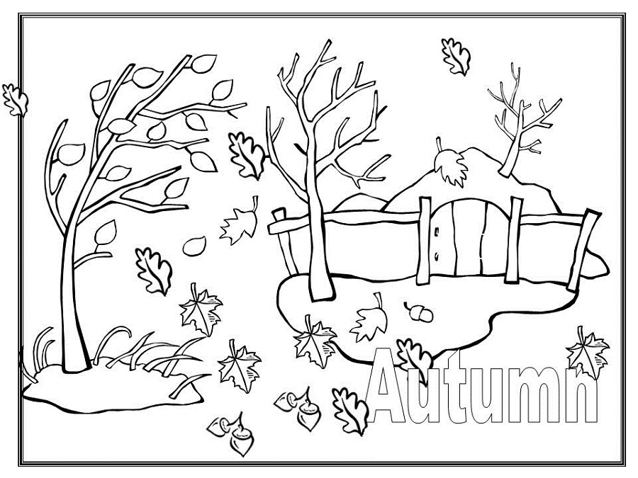 coloring page autumn adorable fall coloring pages for children activity shelter coloring page autumn