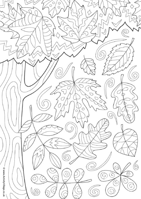 coloring page autumn autumn doodle colouring page autumn coloring page