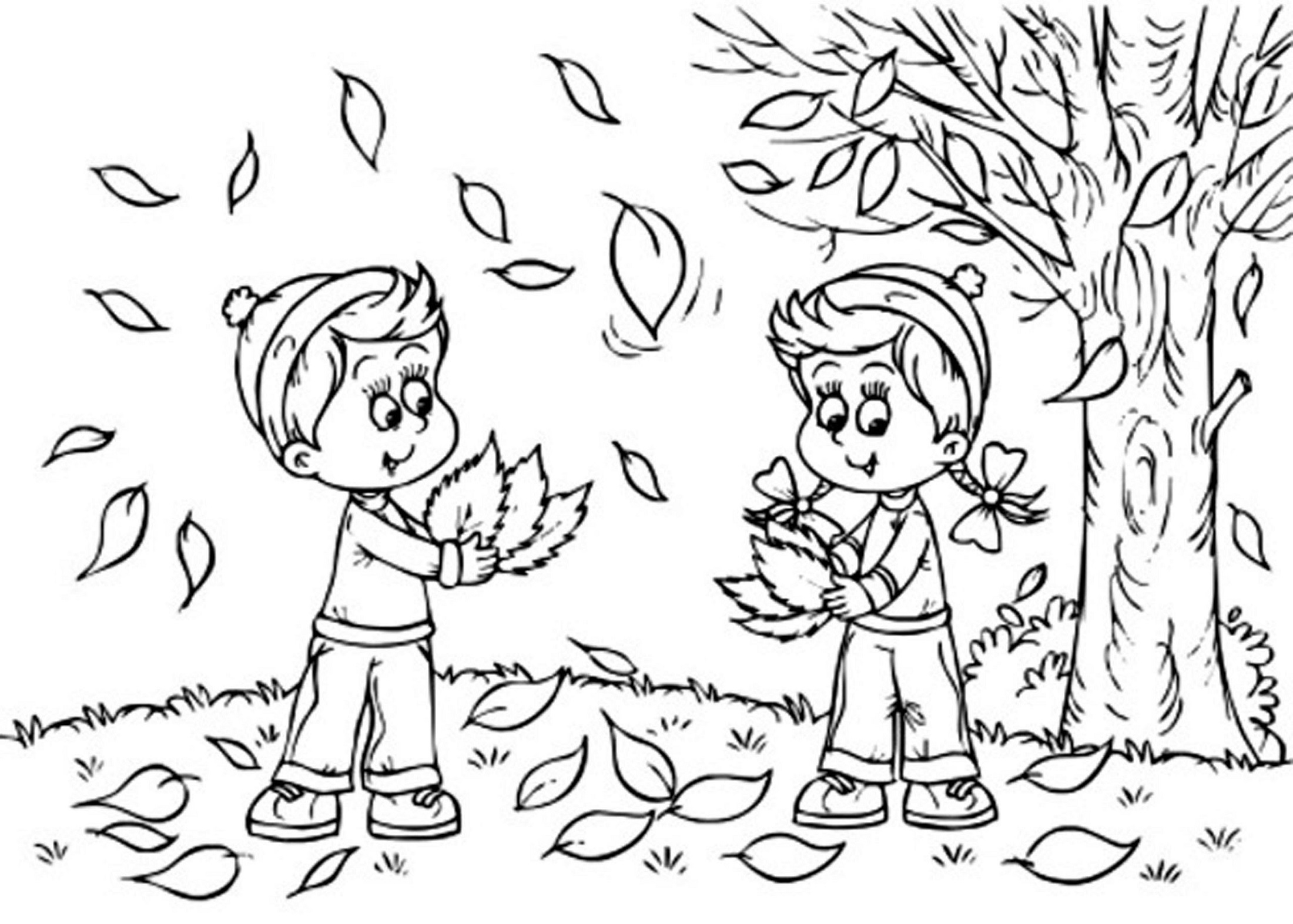 coloring page autumn fall coloring pages for kindergarten learning printable page autumn coloring