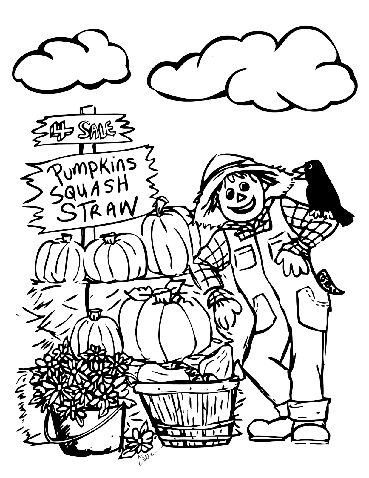 coloring page autumn fall coloring pages printable activity shelter coloring page autumn