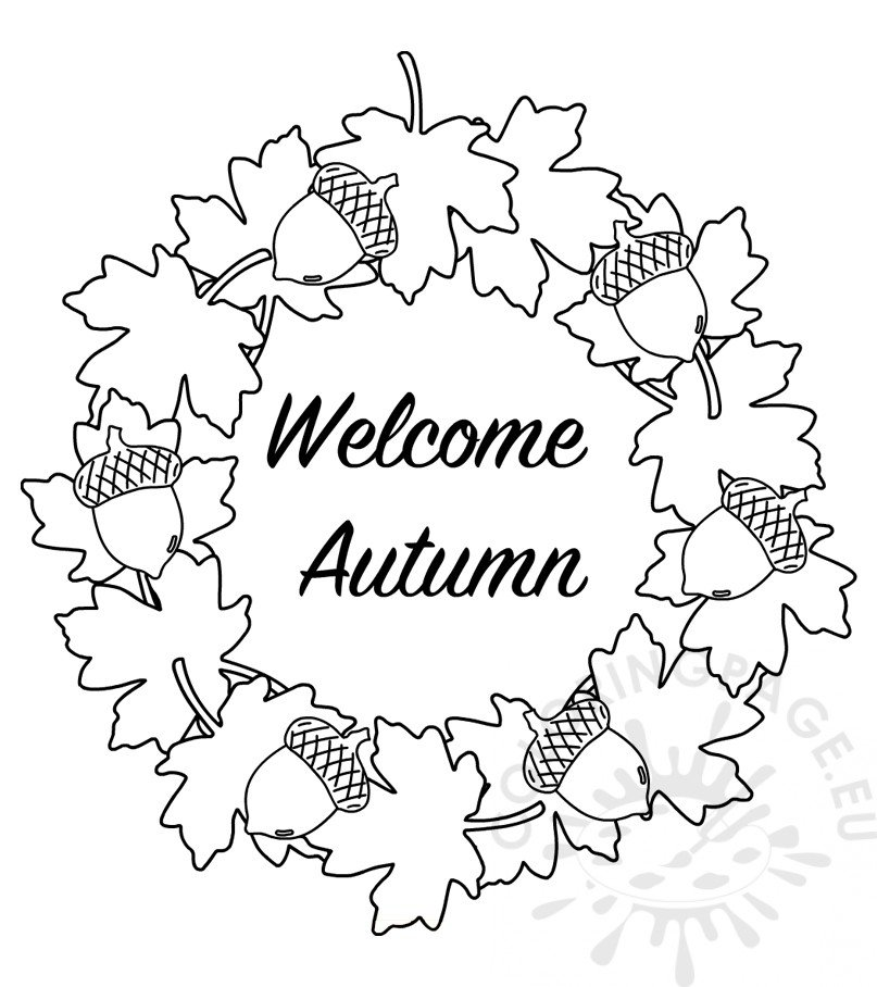 coloring page autumn fall season drawing at getdrawingscom free for personal coloring autumn page
