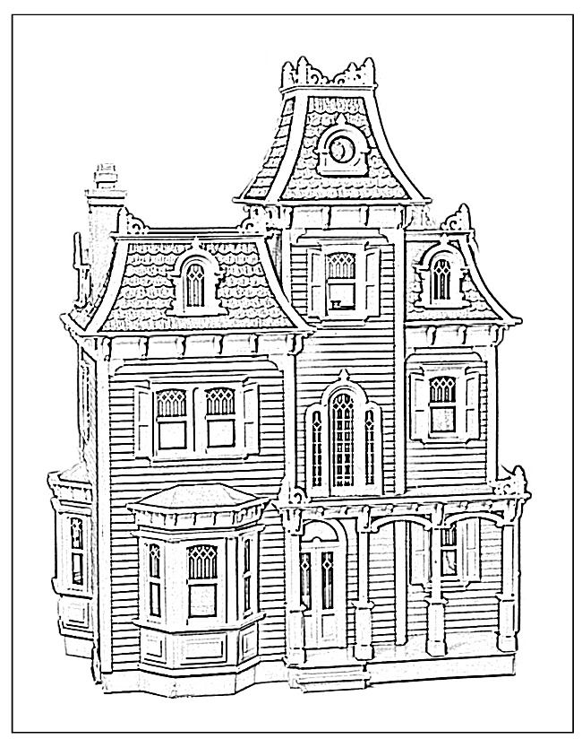 coloring page house free printable haunted house coloring pages for kids house coloring page