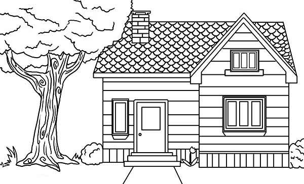 coloring page house house in the village in houses coloring page netart page coloring house