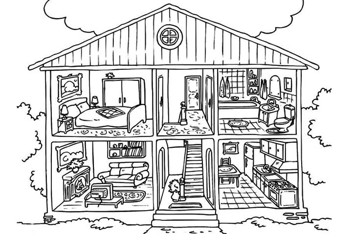 coloring page house printable homes house coloring sheet for kids coloring page coloring house