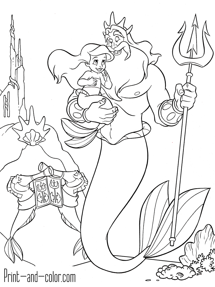 coloring page little mermaid coloring pages ariel the little mermaid free printable mermaid coloring page little