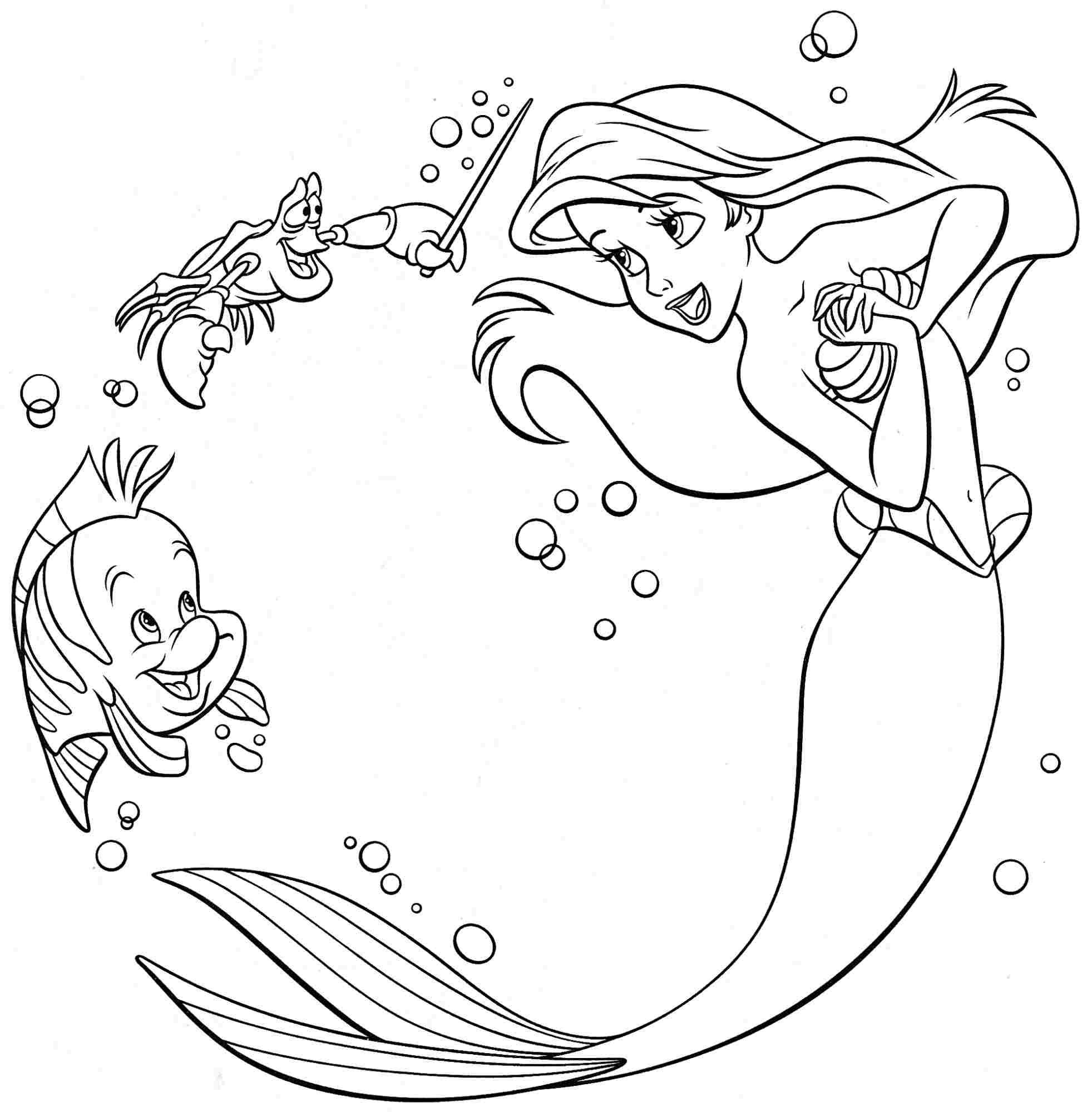 coloring page little mermaid printable little mermaid coloring pages coloring me page mermaid coloring little