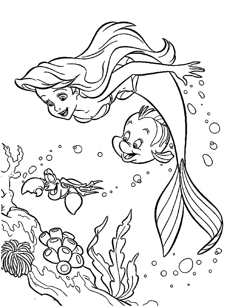 coloring page little mermaid the little mermaid coloring pages 3 disneyclipscom little coloring page mermaid