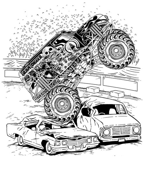 coloring page monster truck top free printable monster truck coloring pages mason truck page coloring monster