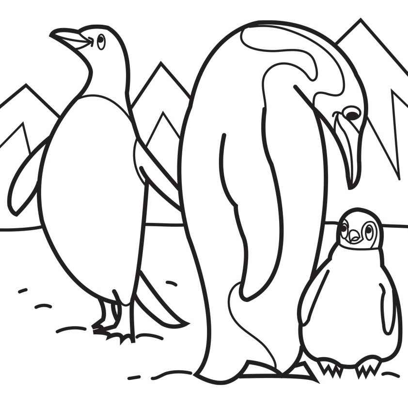 coloring page of penguin emperor penguin coloring pages printable of page penguin coloring