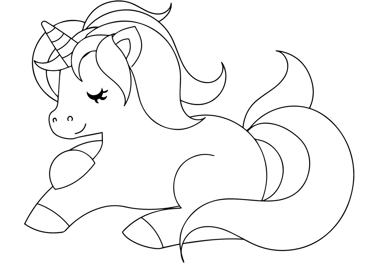 coloring page of unicorn free printable unicorn coloring pages for kids unicorn of coloring page