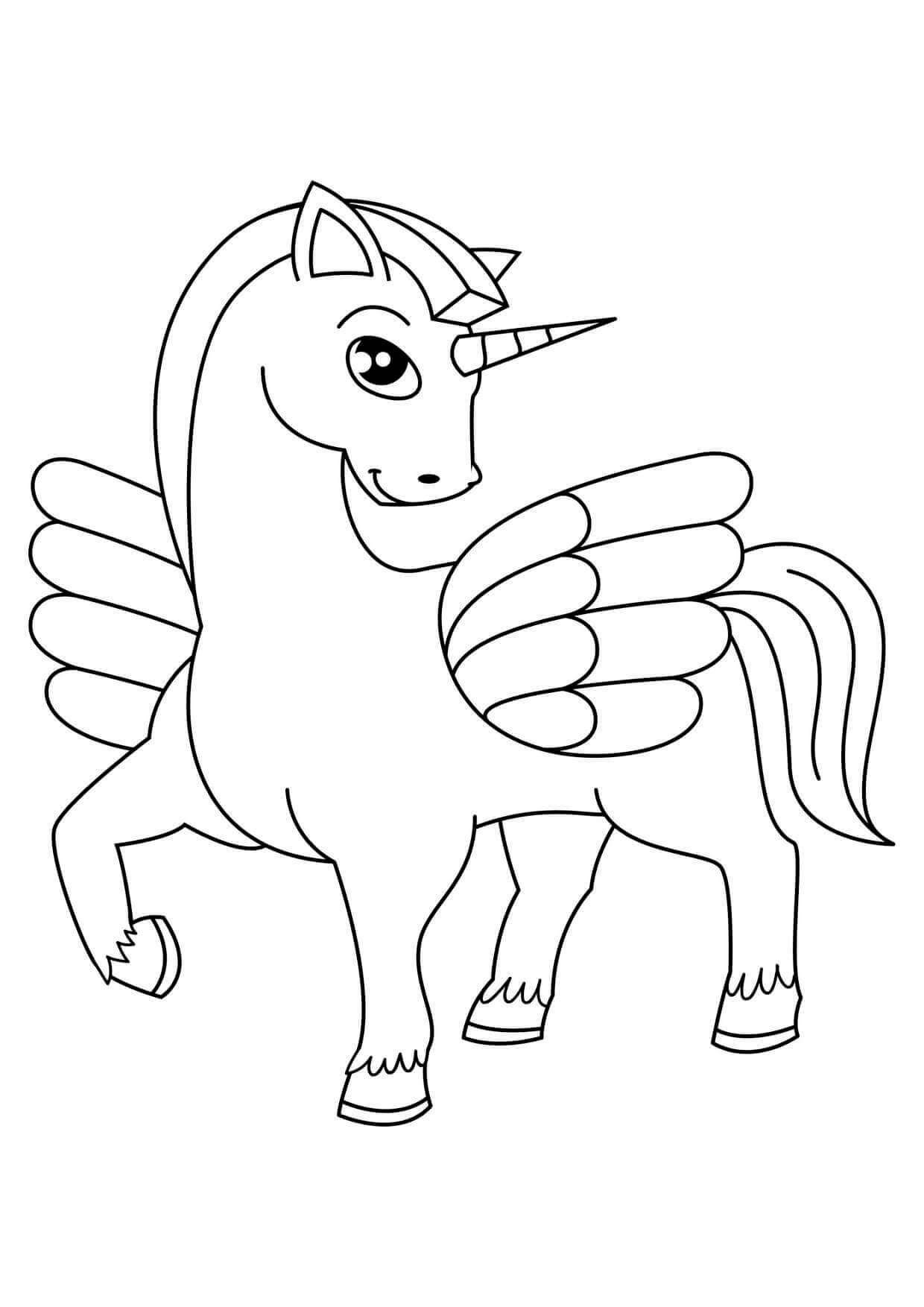 coloring page of unicorn unicorn coloring pages free download on clipartmag unicorn of page coloring