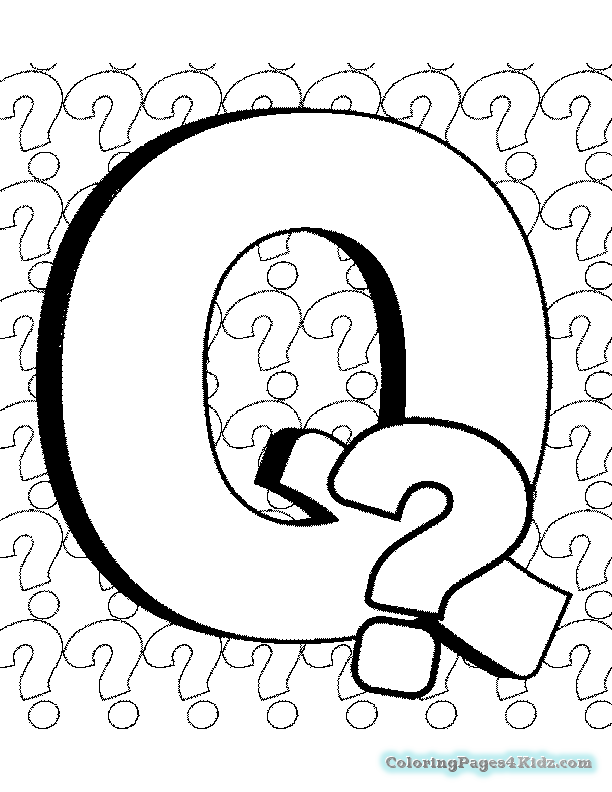 coloring page q spikindergarten licensed for non commercial use only q page coloring